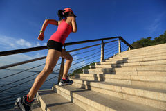 Healthy lifestyle sports woman running royalty free stock photography