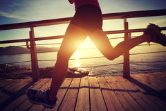 Healthy lifestyle sports woman running Royalty Free Stock Photos