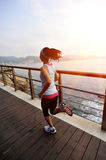 Healthy lifestyle sports woman running Royalty Free Stock Image