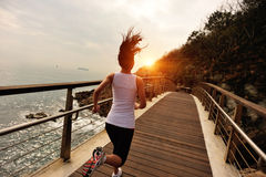Healthy lifestyle sports woman running Stock Images