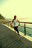 Healthy lifestyle sports woman running Stock Photos