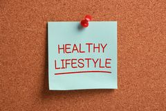 Healthy Lifestyle Sticky Note Royalty Free Stock Photo