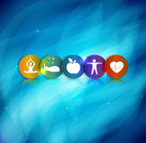 Healthy lifestyle symbol background Stock Image