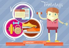 Healthy lifestyle trainings Stock Image