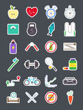 Healthy lifestyle  vector icons set Royalty Free Stock Photography