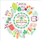Healthy Lifestyle Vector Illustration. Royalty Free Stock Photography