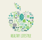 Healthy lifestyle vector illustration. Stock Photos