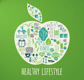 Healthy lifestyle vector illustration. Royalty Free Stock Images