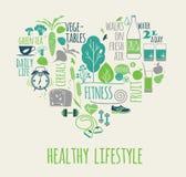 Healthy lifestyle vector illustration. Stock Photo