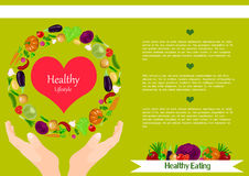 Healthy lifestyle vector illustration. Stock Photo