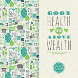 Healthy lifestyle vector illustration. Royalty Free Stock Photo