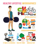 Healthy lifestyle vector infographic Stock Photography