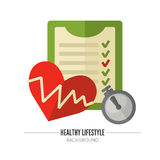 Healthy lifestyle. Vector wellness concept Stock Photo