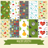Healthy lifestyle. Vector wellness concept Royalty Free Stock Photo