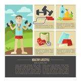 Healthy lifestyle. Vector wellness concept Stock Photos