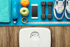 Healthy lifestyle and weight loss Royalty Free Stock Photos
