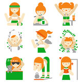 Healthy lifestyle and wellness flat icons Royalty Free Stock Photography