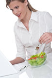 Healthy lifestyle  - Woman having lunch break Stock Photography