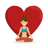 Healthy lifestyle woman heart concept icon Royalty Free Stock Photography