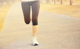 Healthy lifestyle woman jogging Royalty Free Stock Images