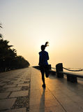 Healthy lifestyle woman running Stock Images
