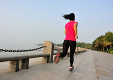 Healthy lifestyle woman running Royalty Free Stock Image
