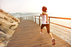 Healthy lifestyle woman running Stock Photo