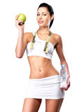 Healthy lifestyle of woman with slim body Stock Images