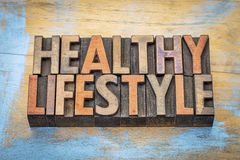 Healthy lifestyle word abstract Royalty Free Stock Photography