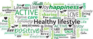 Healthy Lifestyle word cloud collage vector