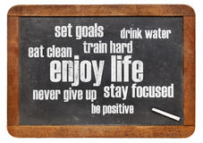 Healthy lifestyle word cloud Stock Photo