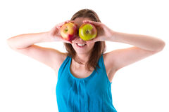 Healthy lifestyle of young woman Stock Images