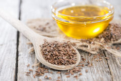 Healthy Linseed Oil Stock Image