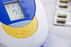 Electronic blood pressure monitor Royalty Free Stock Image