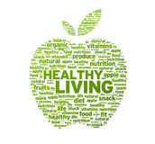 Healthy Living Apple Illustration Stock Photography