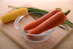 Healthy living with carrots Stock Photos