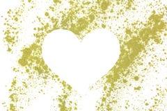 Healthy living, detox. Chlorella, spirulina and wheat grass ground powder forming heart shape. Detox, healthy living, alternative medicine Stock Photos