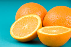 Healthy living diet oranges Stock Images