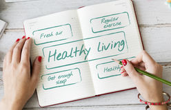 Healthy Living Excersice Diet Nutrition Graphic Concept Royalty Free Stock Photography
