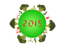 Healthy living for a green planet in 2015 Stock Images