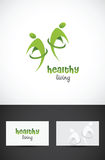 Healthy living icon. Vector conceptual icon design for healthy living Stock Images
