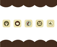 Healthy living icons Royalty Free Stock Photography