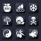 Healthy living icons Stock Photo