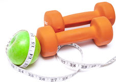 Healthy Living - nutrition & exercising Royalty Free Stock Images