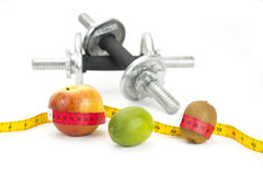 Healthy Living - nutrition & exercising Royalty Free Stock Photo