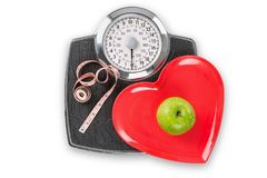 Healthy living scales Royalty Free Stock Photography