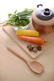 Healthy living with vegetables Stock Images