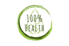 100% healthy Logo Designs Inspiration Isolated on White Background. 100% healthy Logo Designs Inspiration Isolated on White Background royalty free illustration