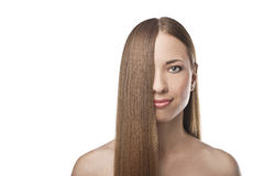 Healthy Long Hair Royalty Free Stock Images