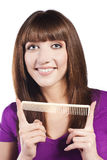 Healthy long straight female hair Stock Image